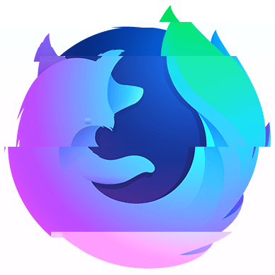 """Glitched"" Firefox nightly logo"